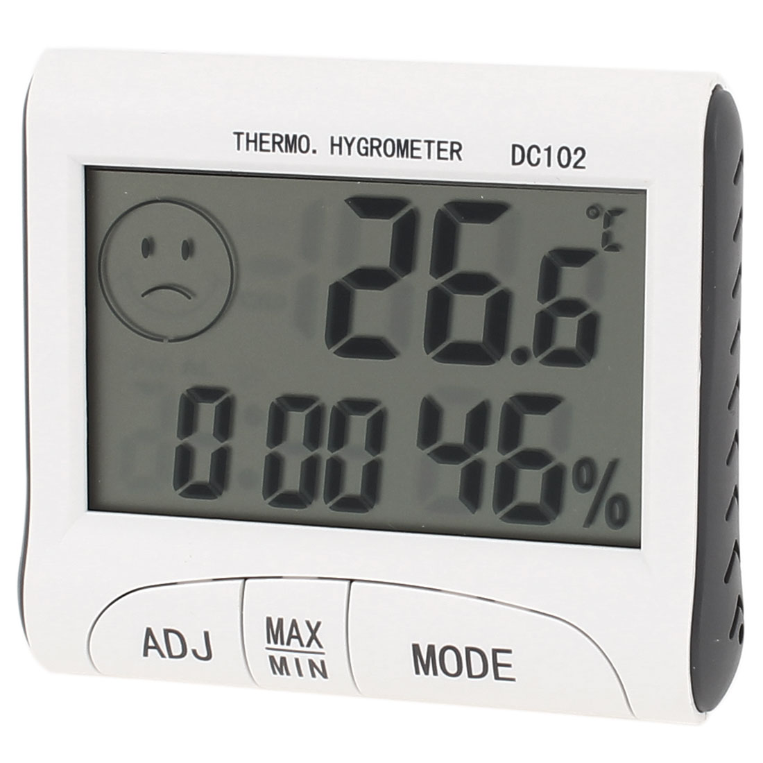 Indoor LCD Digital Clock Everyday Alarm 12h/24h Thermometer Hygrometer
