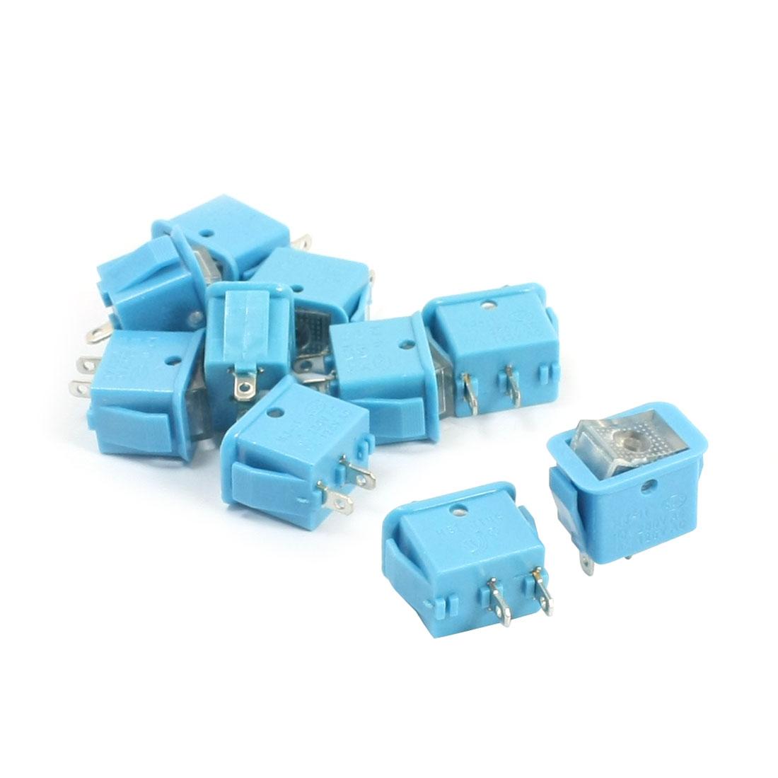10Pcs AC250V/10A 125V/13A 2 Terminal Locking SPST On Off Rocker Switch