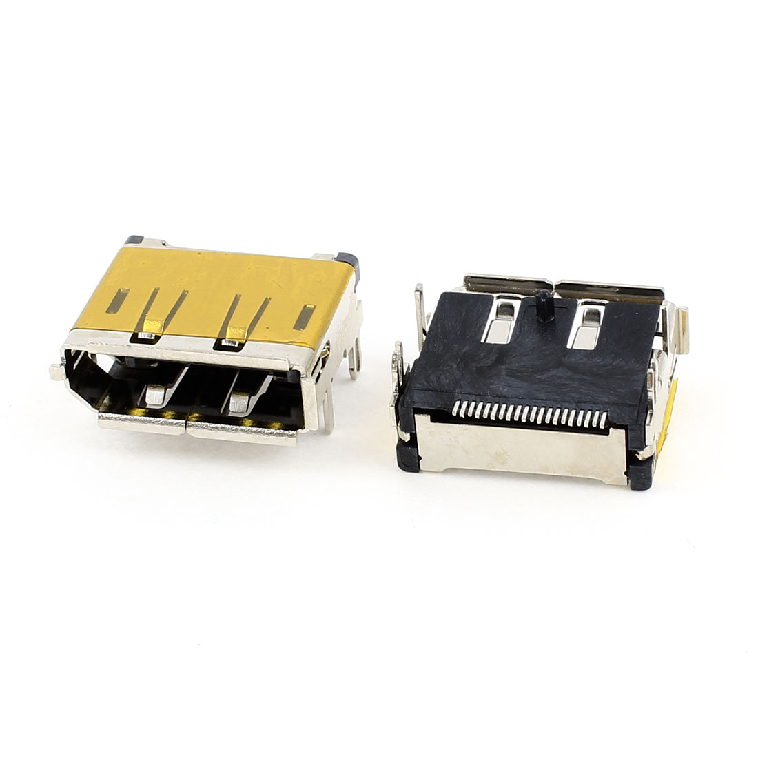 2pcs HDMI Female 19Pin SMT Socket PCB Soldering Mounting Connectors