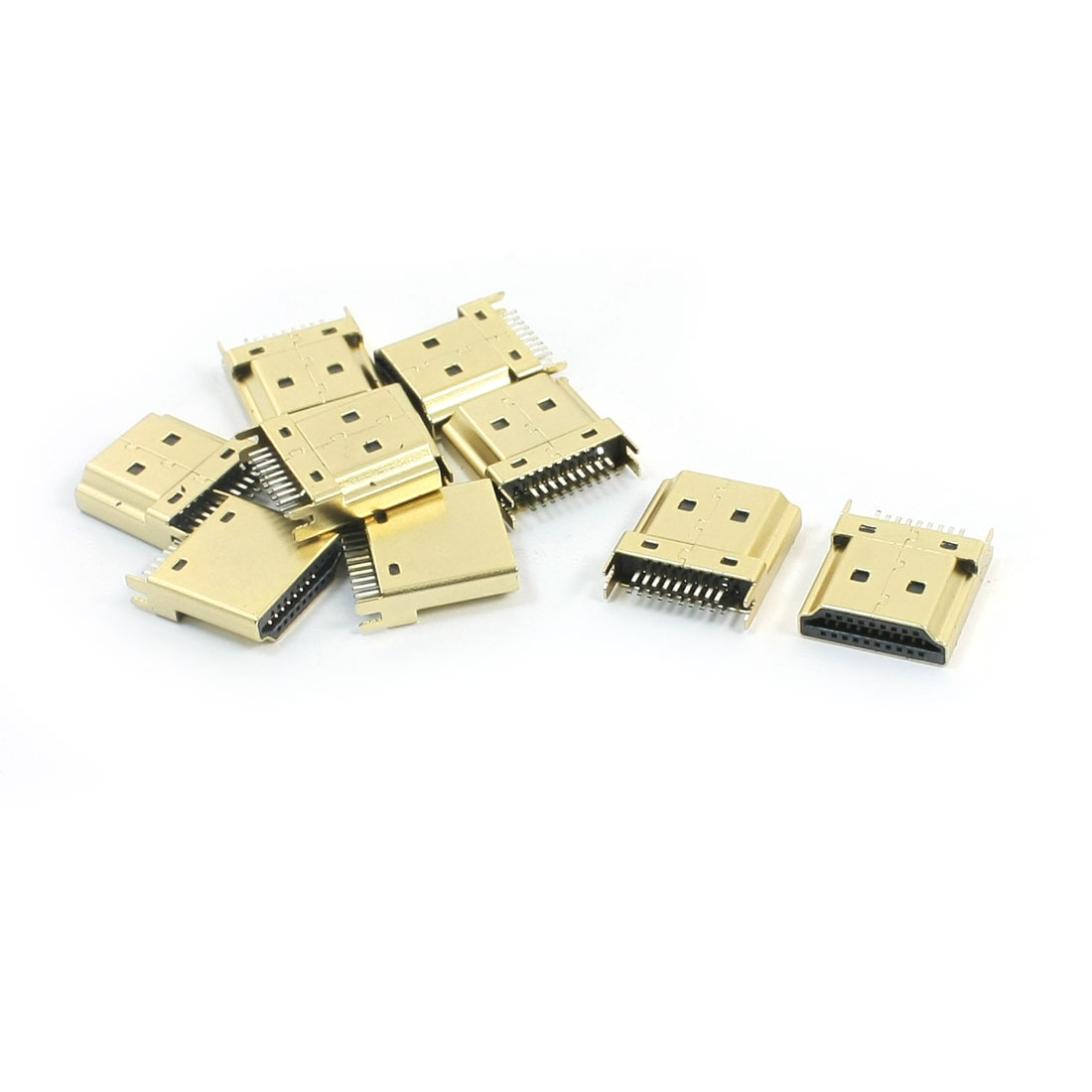 10PCS 1.0mm Female HDMI Jack Socket 19Pins 4 Legs DIP 180 Degree