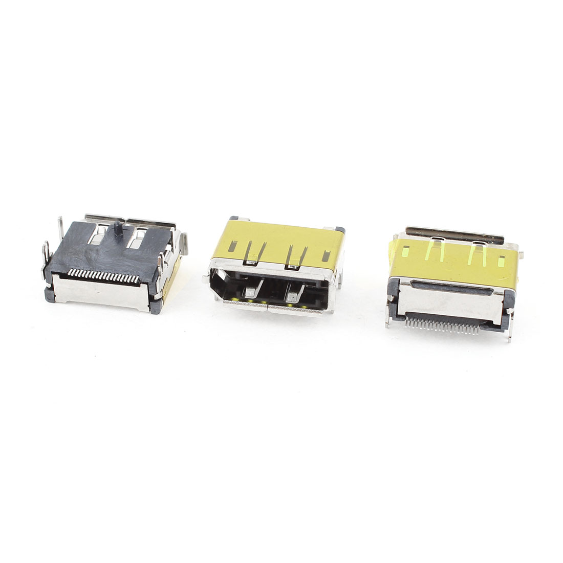3pcs HDMI Female 19Pin SMT Socket PCB Soldering Mounting Connectors