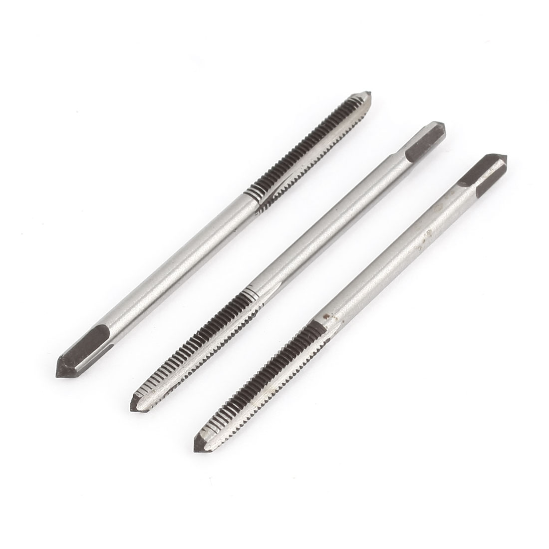 3pcs 3mm Cutting Dia Threaded 3 Flutes Tapper HSS Hand Tap