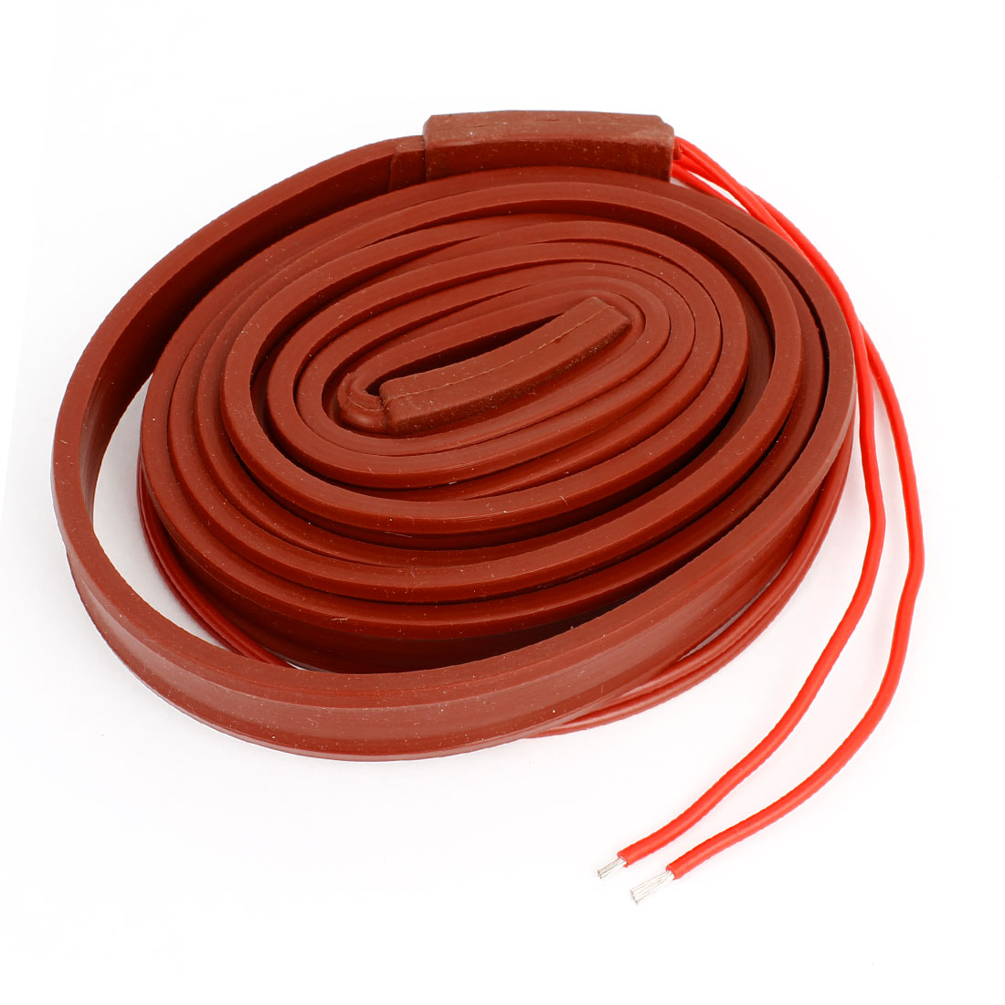 Brick Red Freezing Protection Silicone Waterproof Heater Cable 2M x 15mm 36V