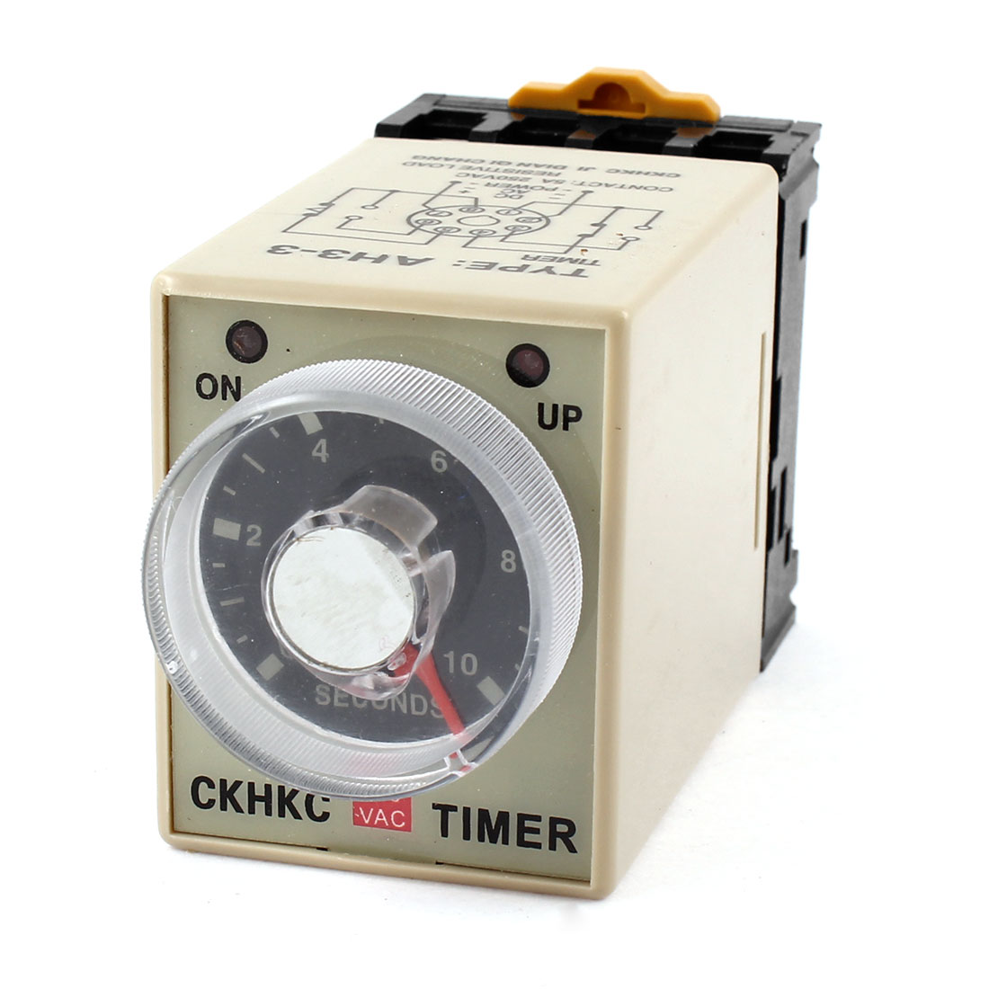 ST3PF 110V AC 8-Pin DPDT 10s Off-delay Operation Time Delay Timer Relay Black