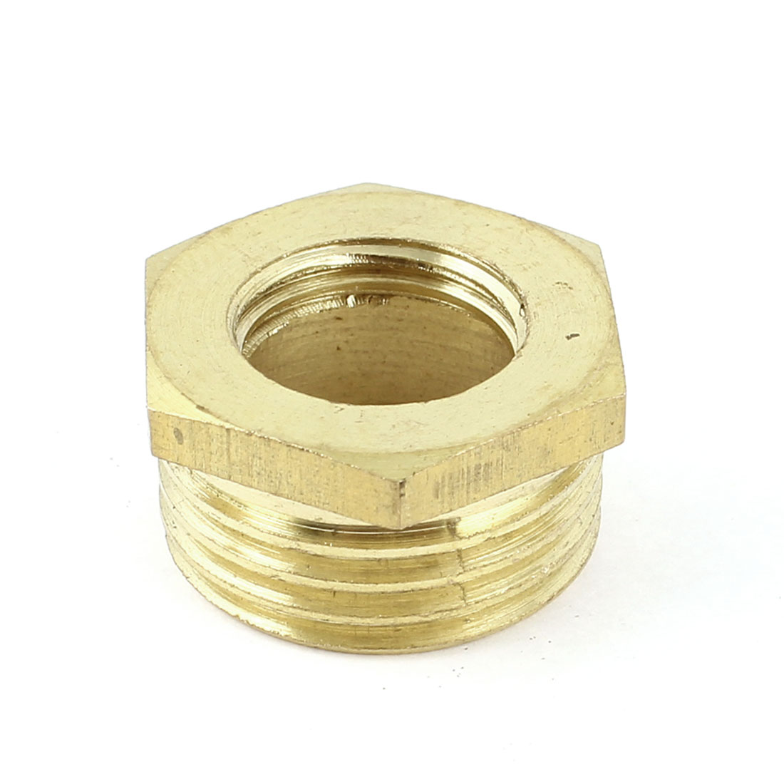 1/2 PT Male to 1/4 PT Female Hex Thread Brass Bushing Piping Connector Adapter