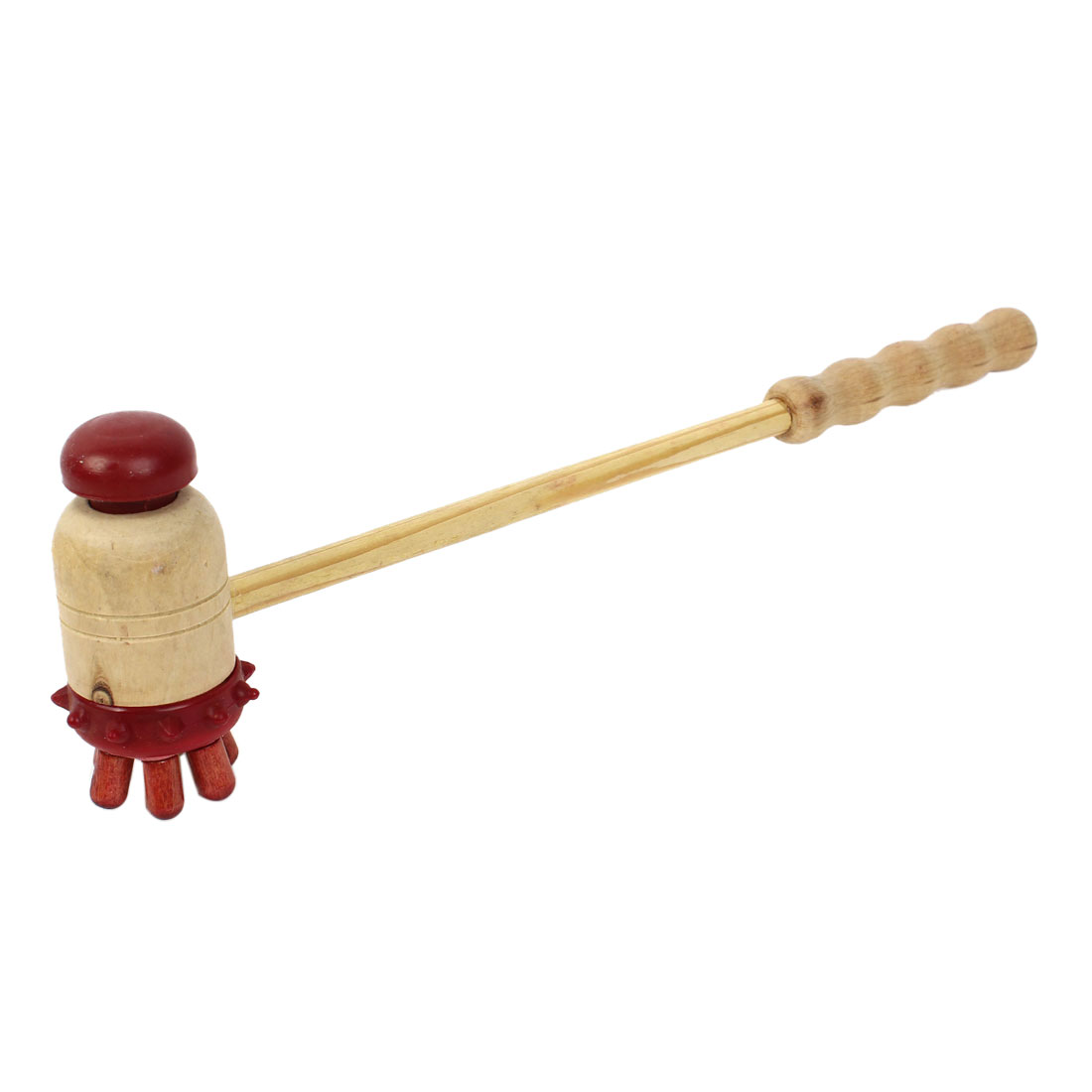 Home Wooden Handle 2 Ways Back Scratcher Hammer Body Massager 30cm Long
