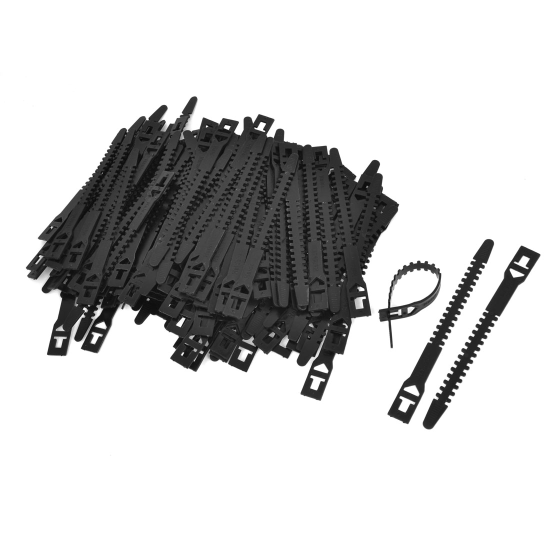 500 PCS Self Locking Black Plastic Cable Wire Zip Tie Wrap 10mmx150mm