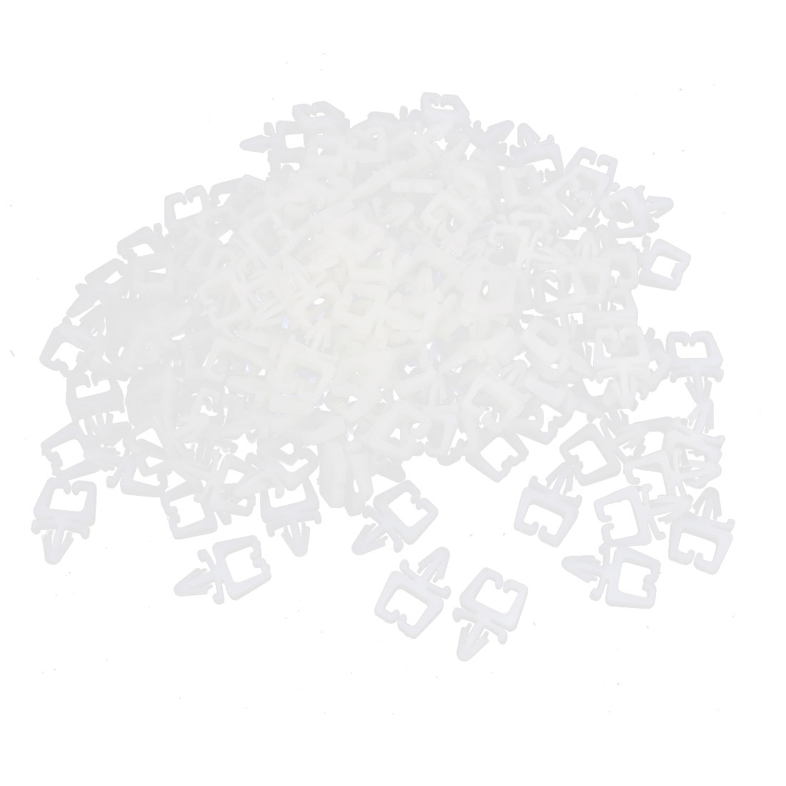 1000 Pcs Plastic 5mm Hole Push in Cable Clamp Holder Fastener White