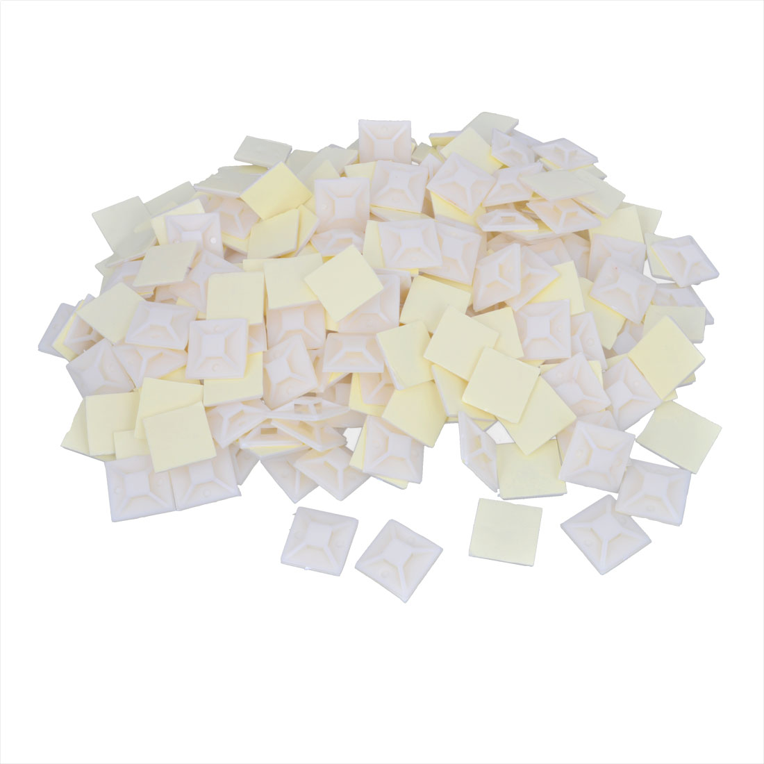 1000 Pcs Plastic Self Adhesive Cable Tie Mount Base 20mm x 20mm