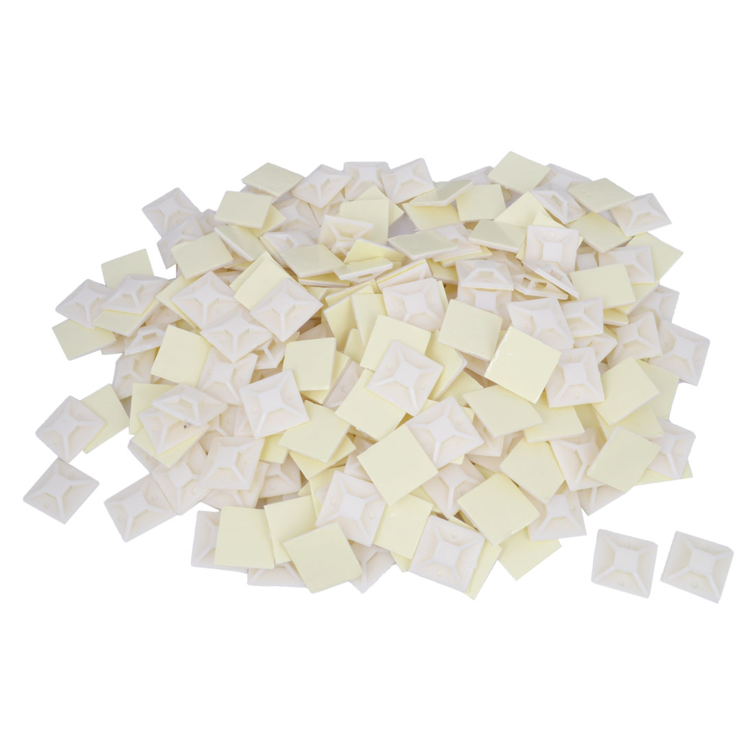 250 Pcs Plastic Self Adhesive Cable Tie Mount Base 40mm x 40mm