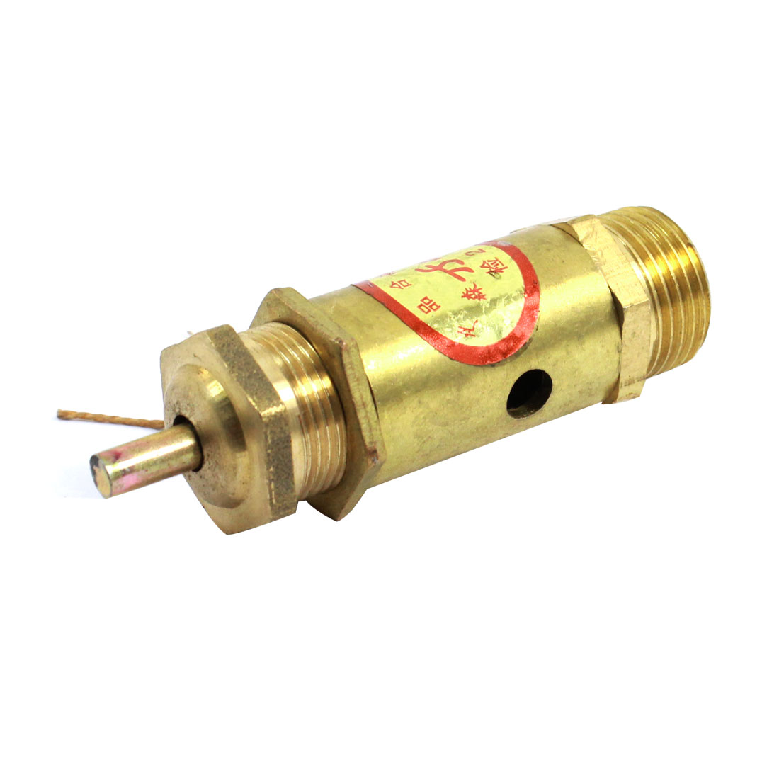 3/8 PT Male Thread Air Compressor Safety Pressure Relief Valve Gold Tone