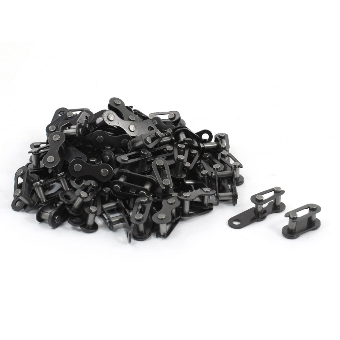 Bicycle Bike 9mm Pitch Roller Chain Master Links Gray 80 Set
