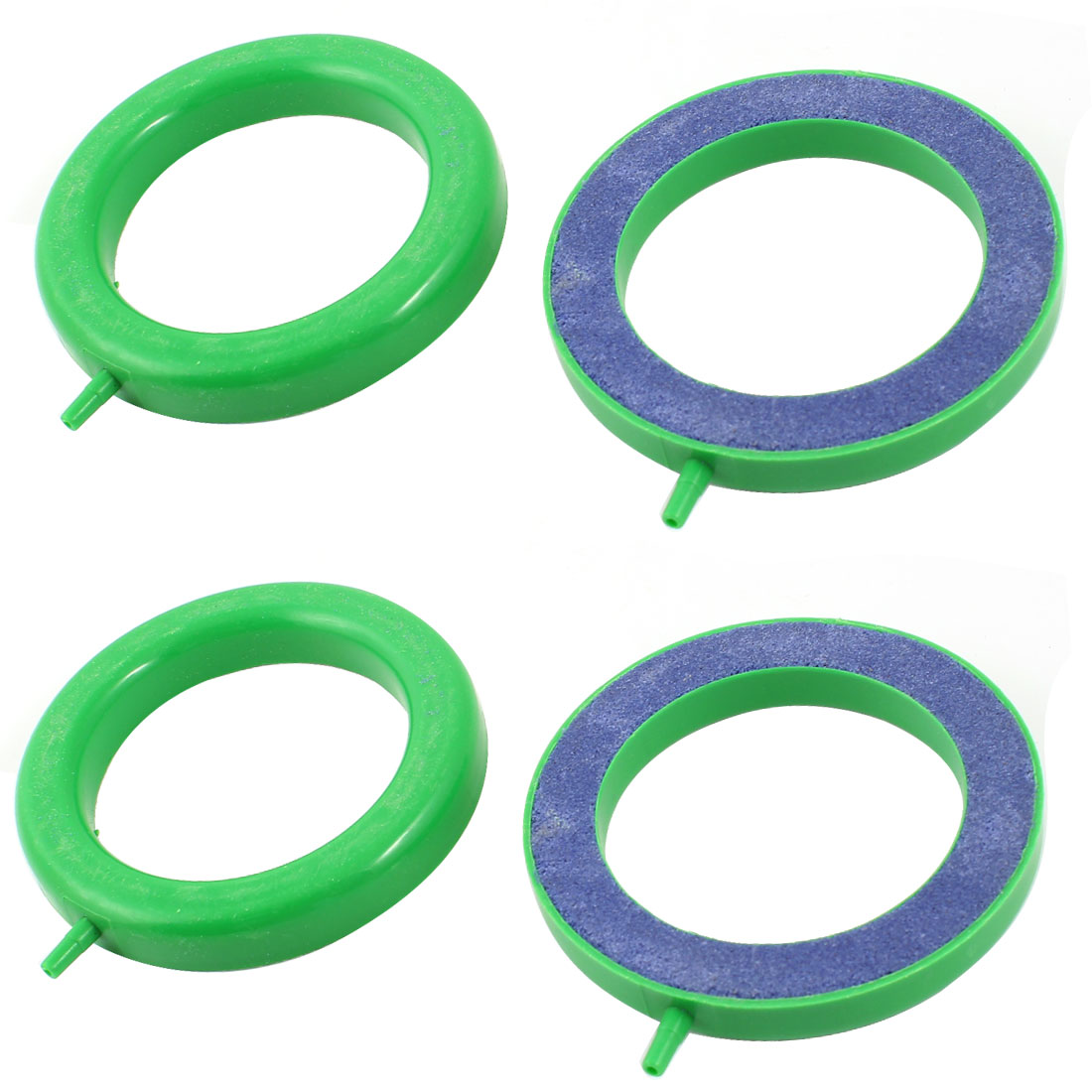 "4PCS 2.5mm Inlet 4"" OD Round Mineral Bubble Air Stone Blue Green for Aquarium"