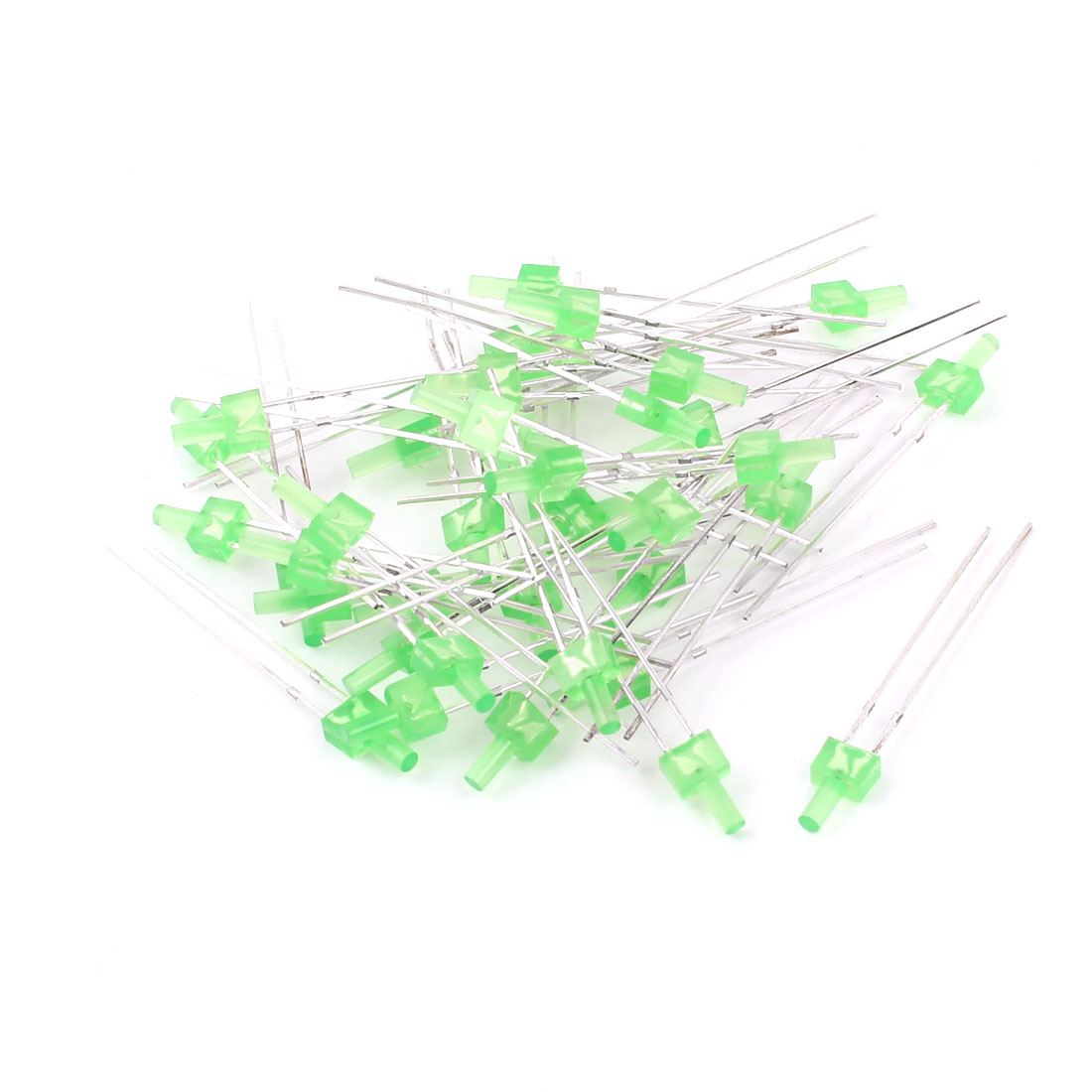 40 Pieces 2 Terminal Yellow Green LED Lamp Light Emitting Diode DC 2.5V-3V Replacement