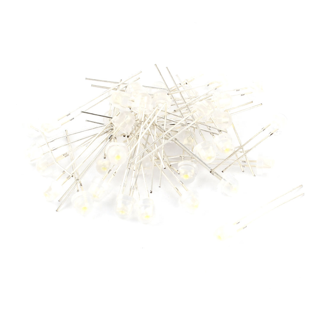 40 Pcs 5mmx5mm Round Head Mist Opaque White LED Light Emitting Diodes DC 2.5V-3.0V