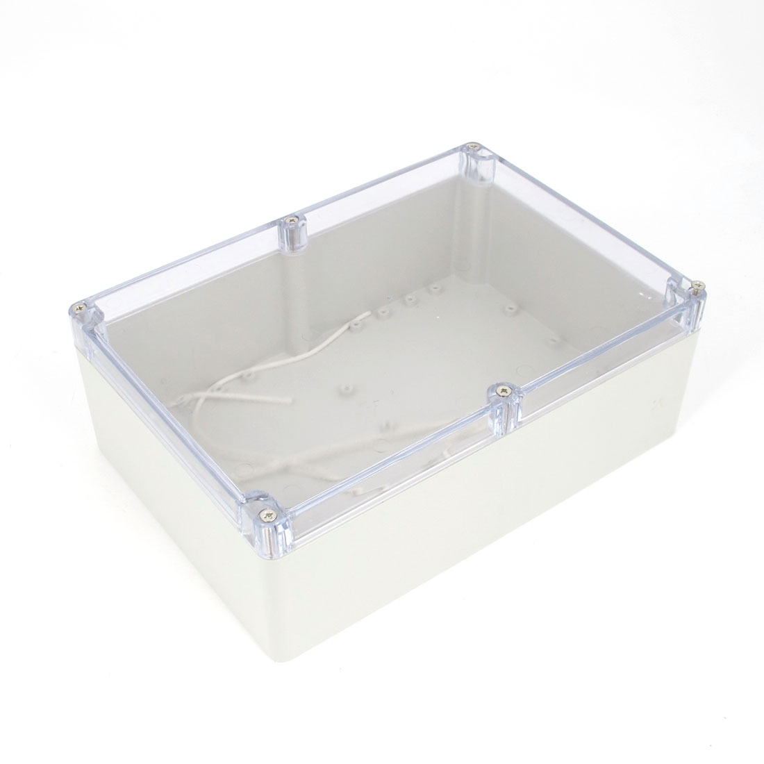 Power Cable Connector Clear Waterproof Case Junction Box 263mmx182mmx95mm