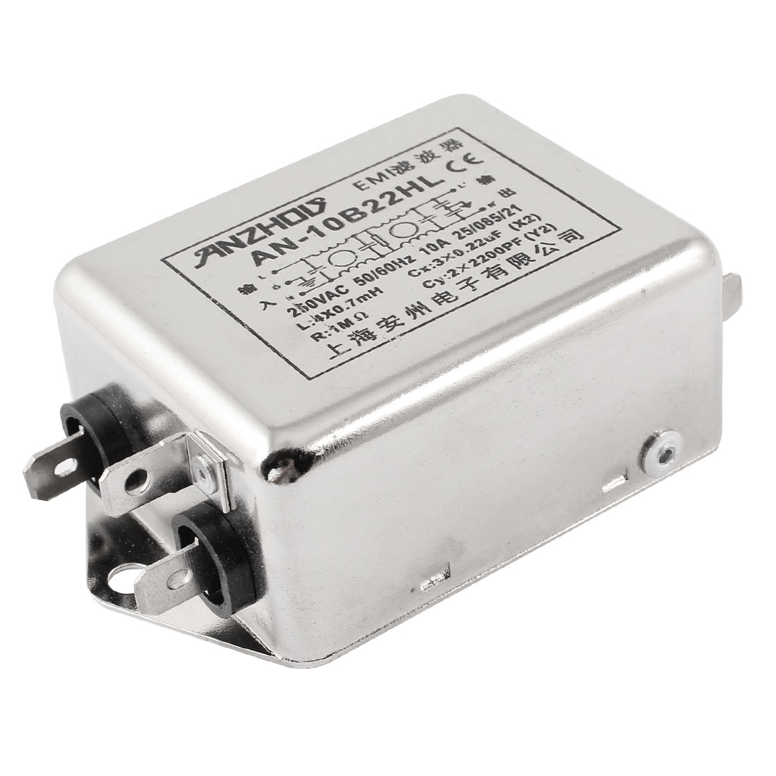 AN-10B22HL AC 250V 10A Single Phase Noise Suppressor Power Line EMI Filter