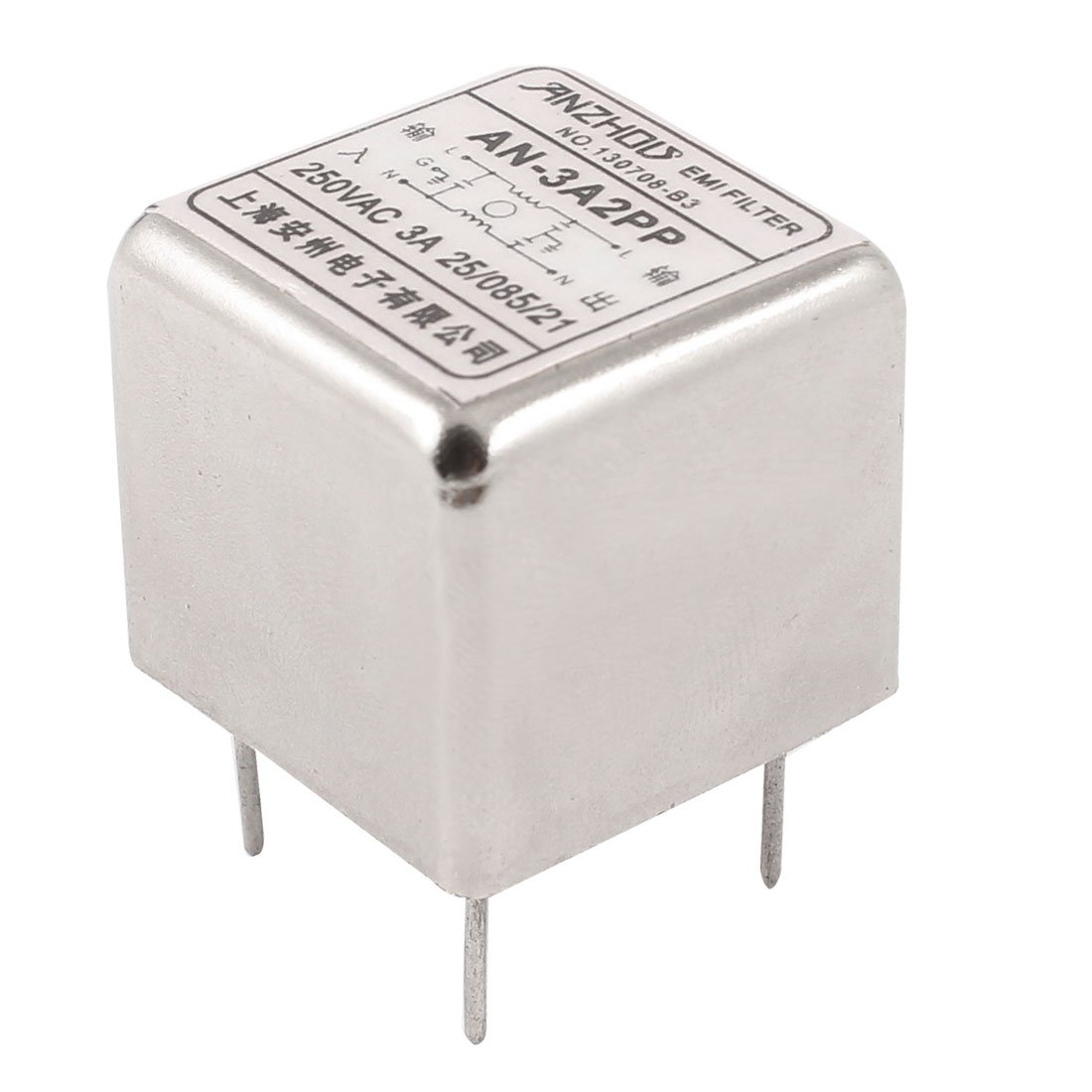 AN-3A2PP AC250V 3A 5-Pin Single Phase Through Hole Mounting Noise Suppressor General Purpose Power EMI Filter