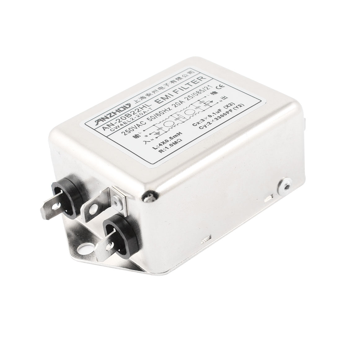 AN-20B22HL AC 250V 20A Single Phase Noise Suppressor Power Line EMI Filter