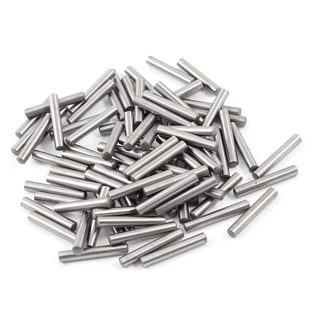 100 Pcs Stainless Steel 3.1mm x 19.8mm Parallel Dowel Pins Fasten Elements Silver Tone