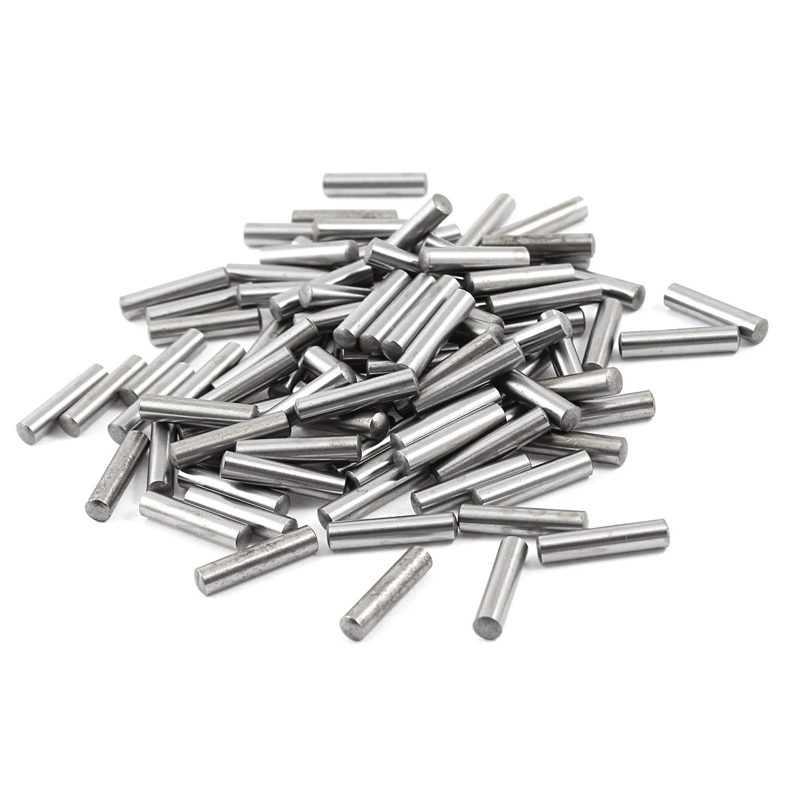 100 Pcs Stainless Steel 4.3mm x 19.8mm Parallel Dowel Pins Fasten Elements Silver Tone