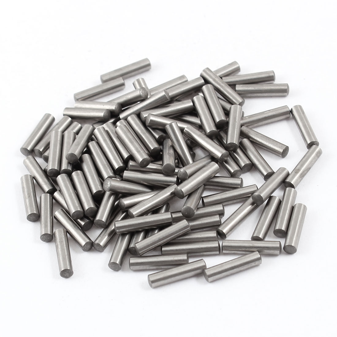 100 Pcs 3mm x 13mm Parallel Dowel Pins Fasten Elements Silver Tone