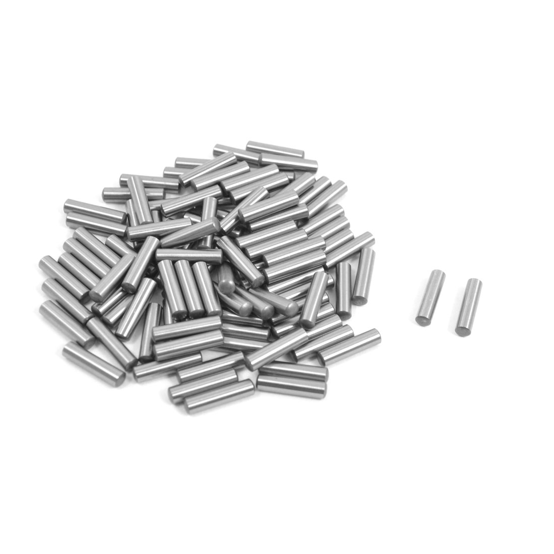 100 Pcs Stainless Steel 3.1mm x 13mm Parallel Dowel Pins Fasten Elements Silver Tone