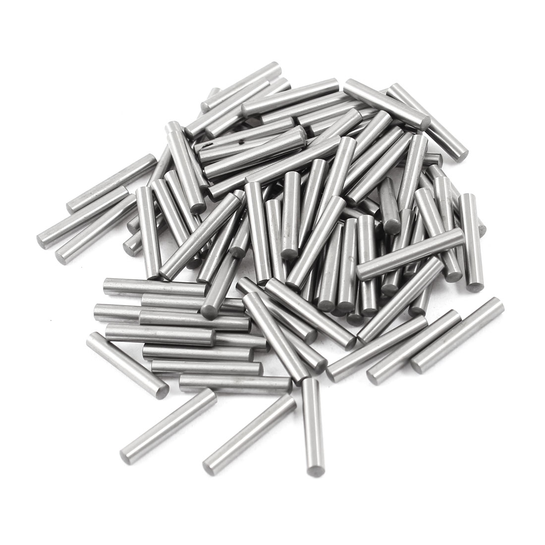 100 Pcs Stainless Steel 3.15mm x 19.8mm Parallel Dowel Pins Fasten Elements Silver Tone