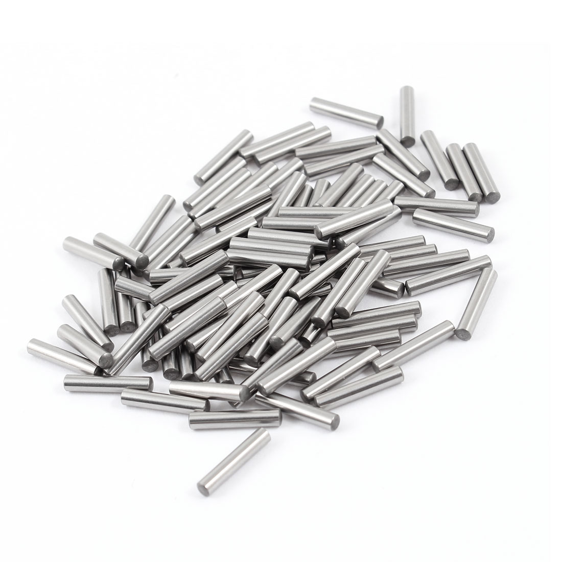 100 Pcs Stainless Steel 2.95mm x 15.8mm Parallel Dowel Pins Fasten Elements Silver Tone
