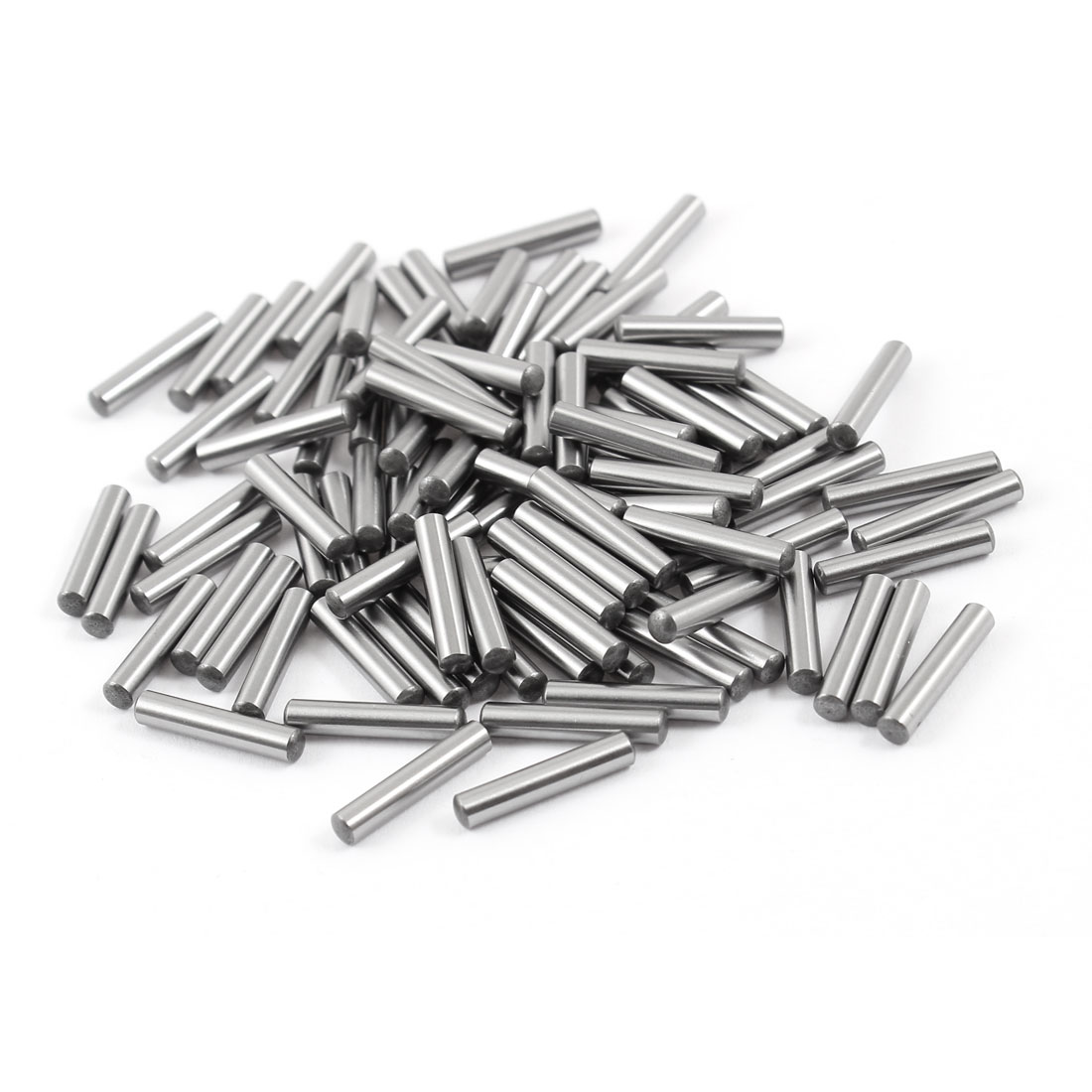 100 Pcs 3mm x 15.8mm Parallel Dowel Pins Fasten Elements Silver Tone