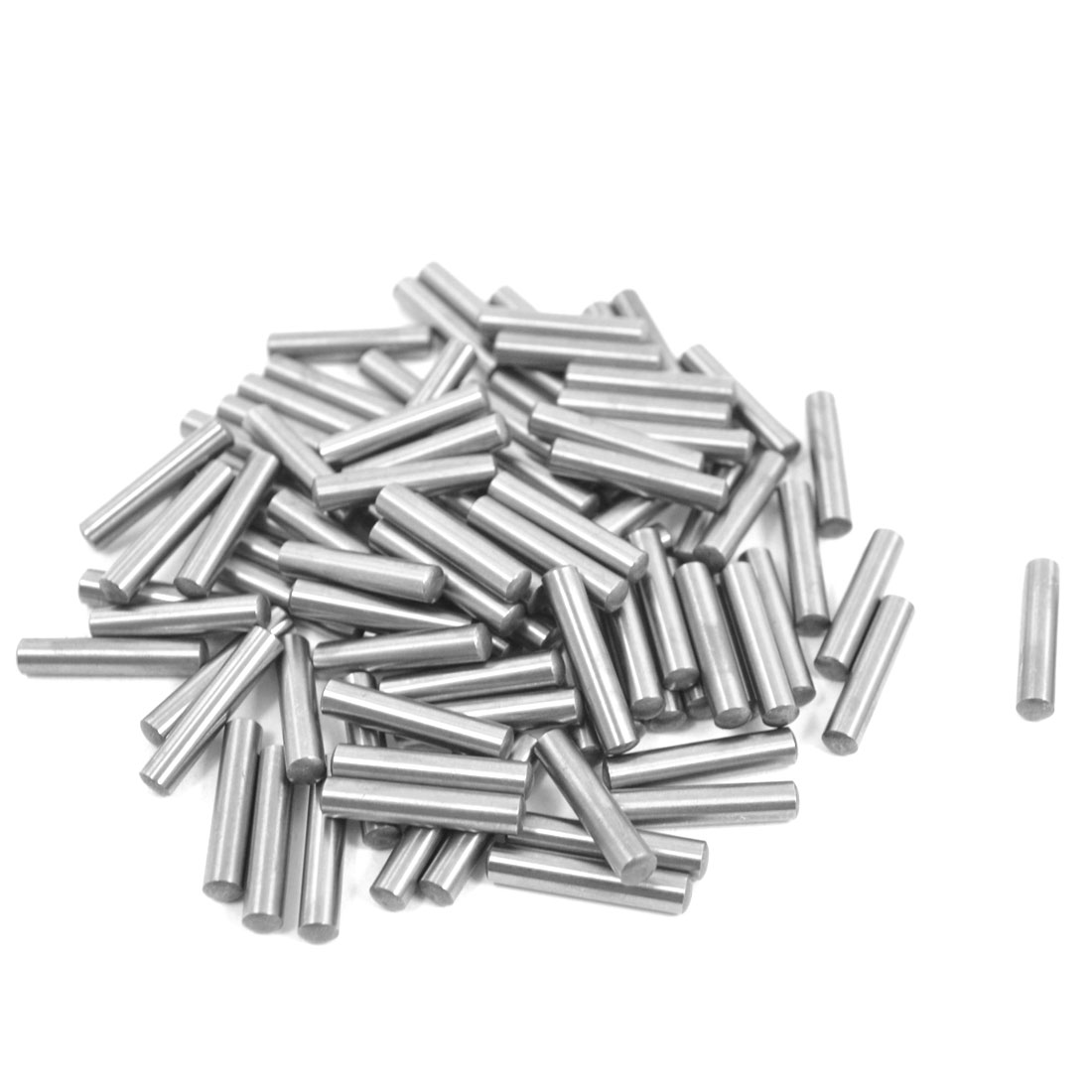 100 Pcs Stainless Steel 3.1mm x 15.8mm Parallel Dowel Pins Fasten Elements Silver Tone