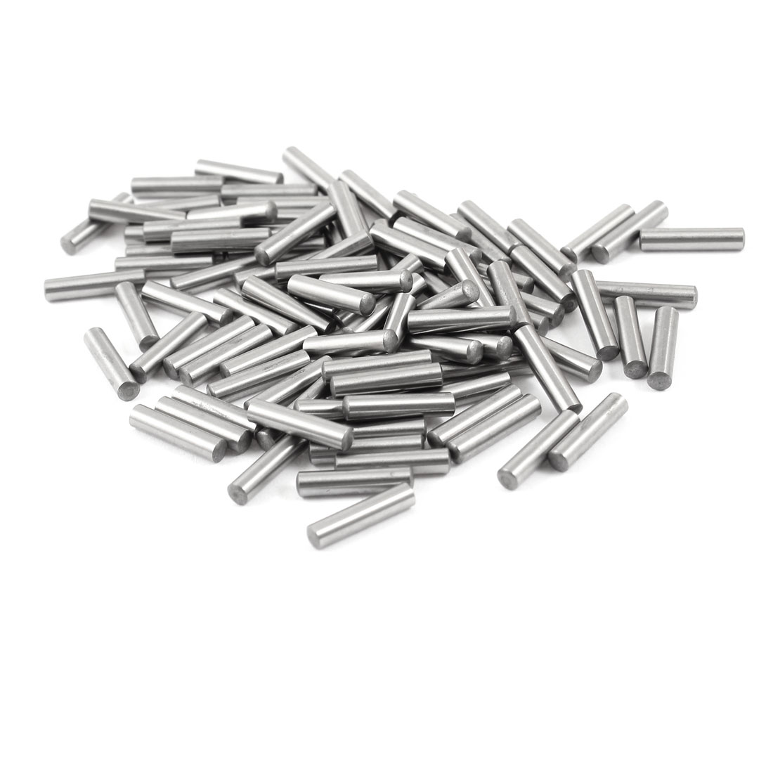 100 Pcs Stainless Steel 3.45mm x 15.8mm Parallel Dowel Pins Fasten Elements Silver Tone