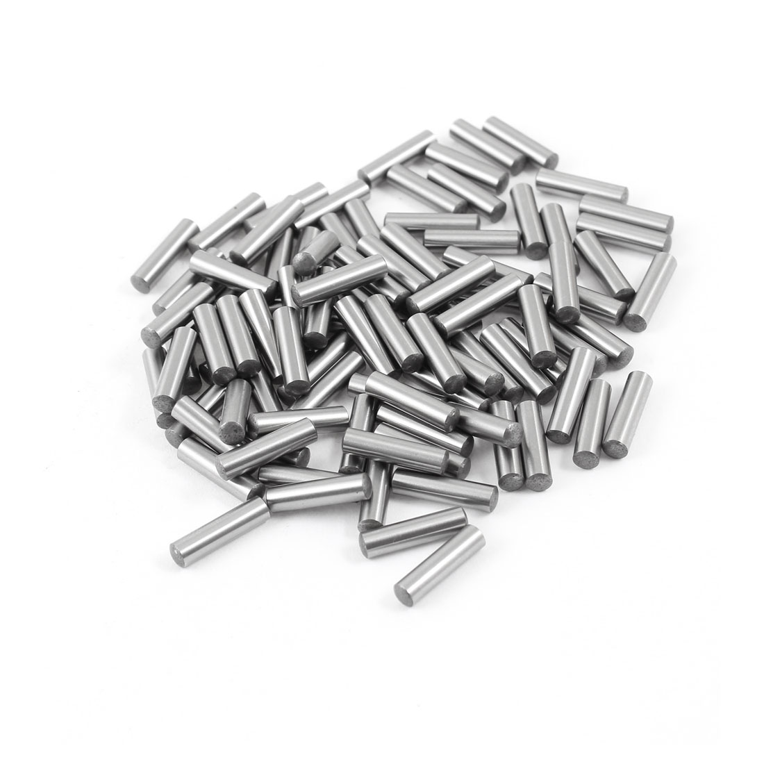 100 Pcs Stainless Steel 3.95mm x 15.8mm Parallel Dowel Pins Fasten Elements Silver Tone