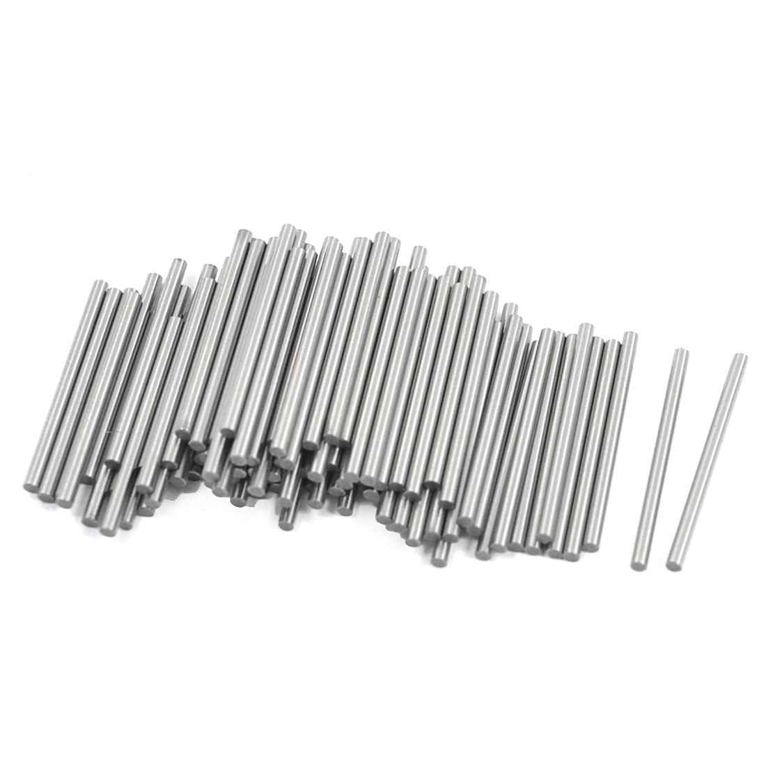 100 Pcs Stainless Steel 1.25mm x 19.8mm Parallel Dowel Pins Fasten Elements Silver Tone