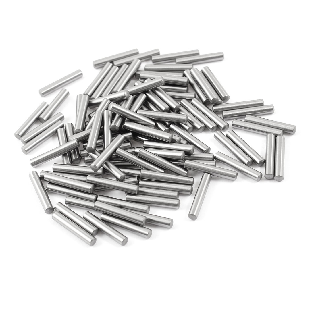 100 Pcs Stainless Steel 3.45mm x 19.8mm Parallel Dowel Pins Fasten Elements Silver Tone