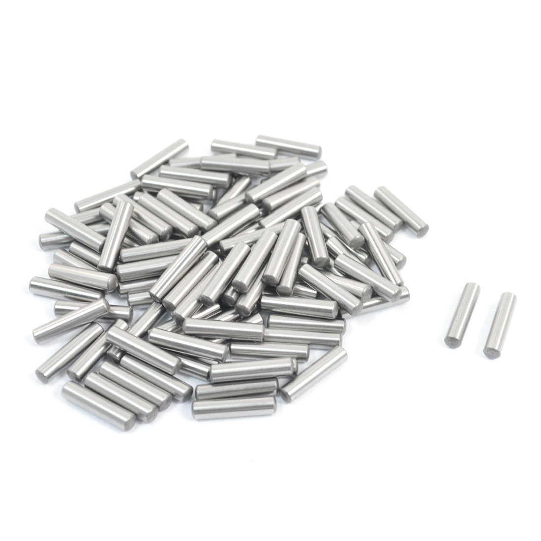 100 Pcs Stainless Steel 3.15mm x 14mm Parallel Dowel Pins Fasten Elements Silver Tone