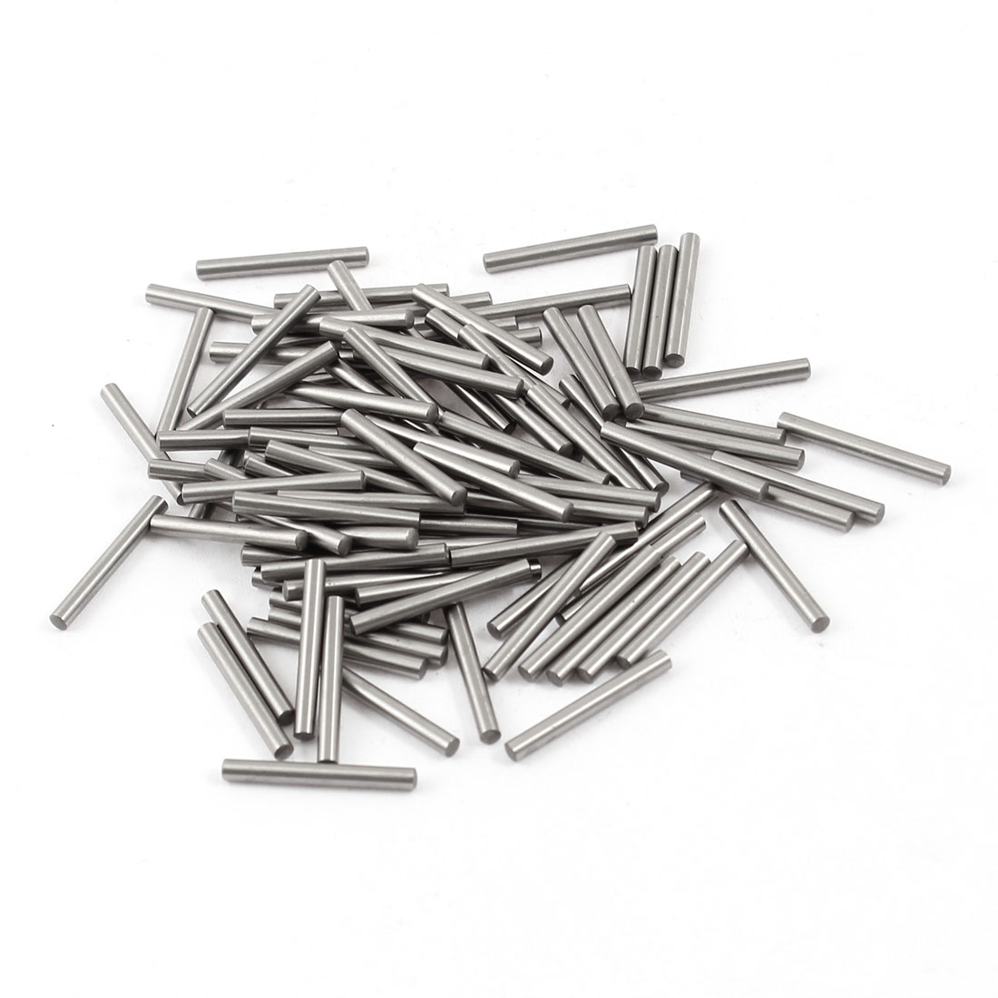 100 Pcs Stainless Steel 2.05mm x 18mm Parallel Dowel Pins Fasten Elements Silver Tone