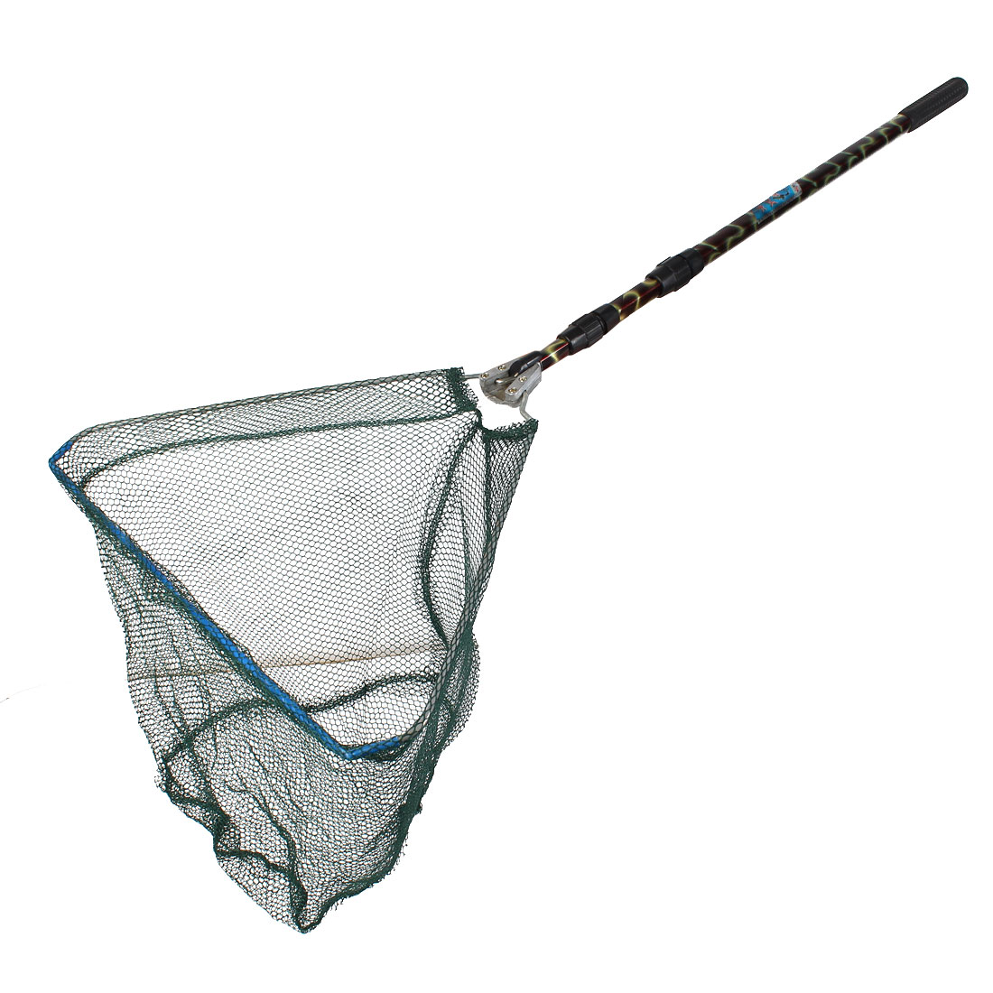 Folding 3 Sections Telescopic Handle Triangle Fishing Fish Landing Netting Net