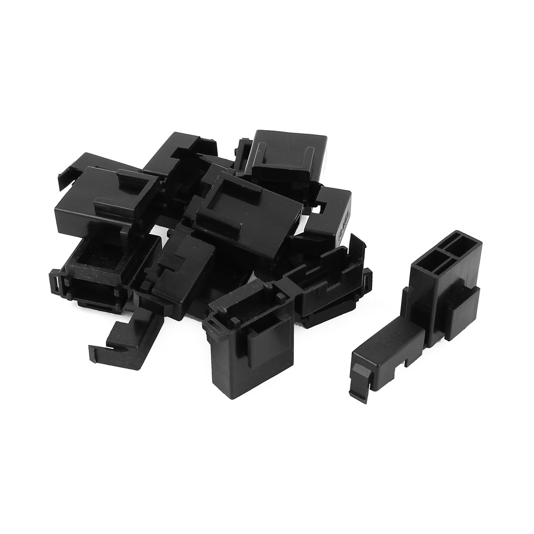 Auto Car Truck Vane Fuse Terminal Block Box Holder Black BX2017 10 Pcs