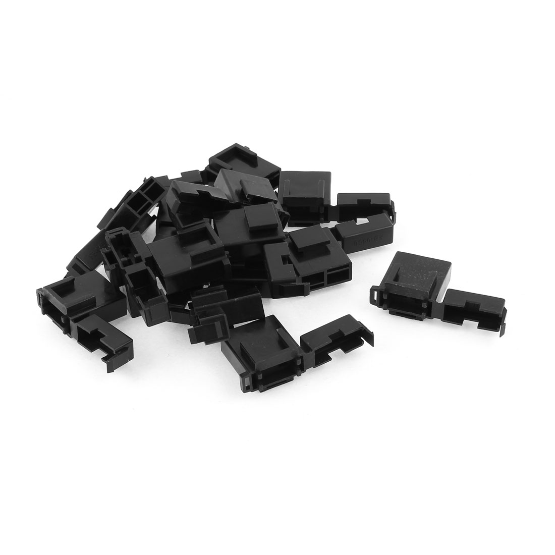 Auto Car Truck Vane Fuse Terminal Block Box Holder Storage Black 15 Pcs