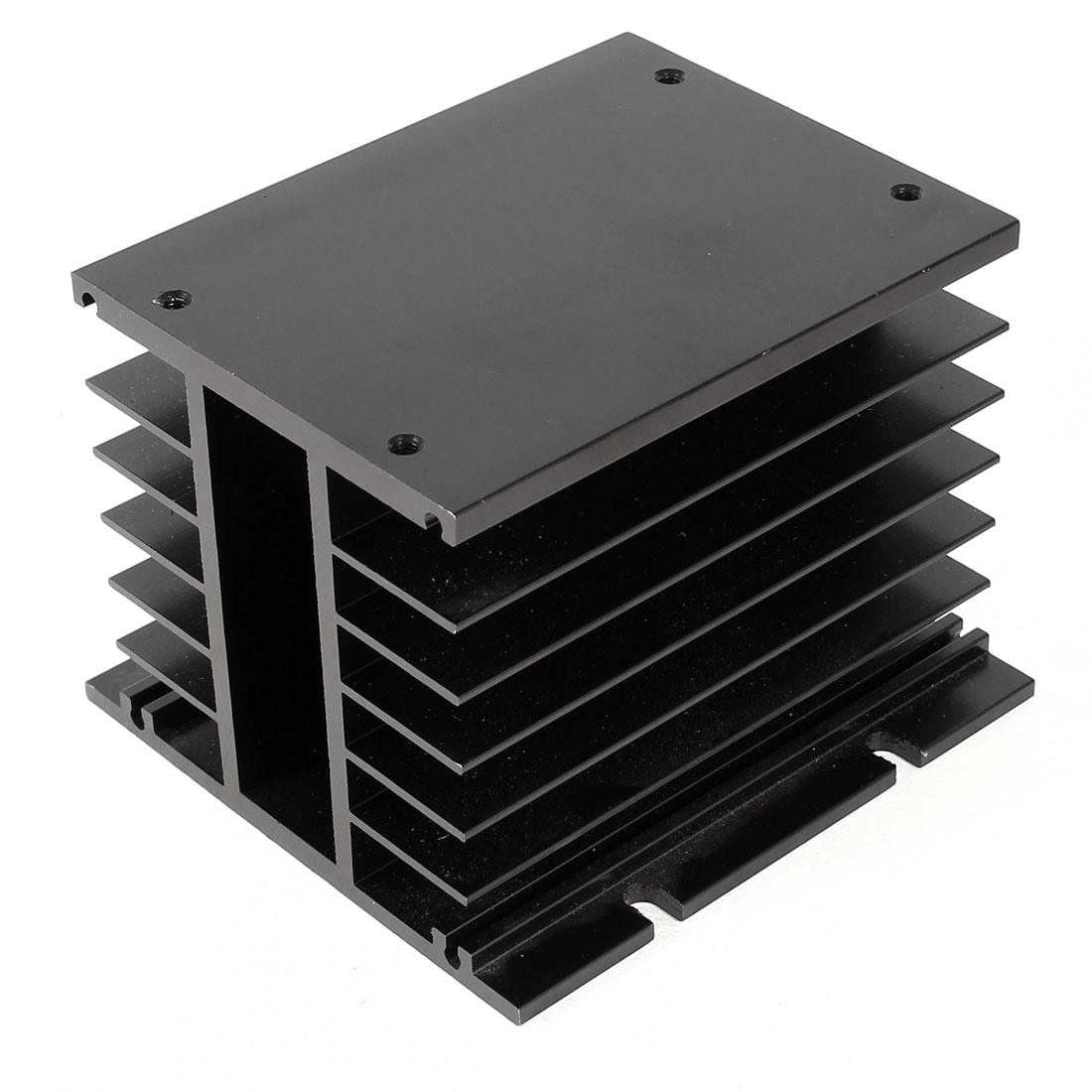 Replacement Three-phase Solid State Relay SSR Heat Sink Black