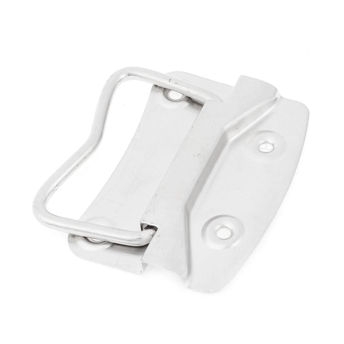Silver Tone 9 x 6.5cm Screws Mounted Plate Door Sideboard Pull Handle