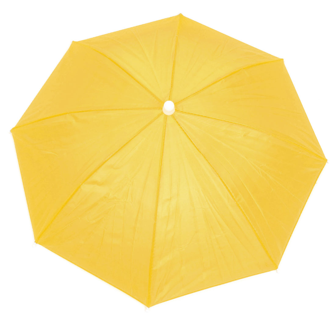 Outdoor Fishing Headwear Polyester Canopy Umbrella Hat Cap Yellow