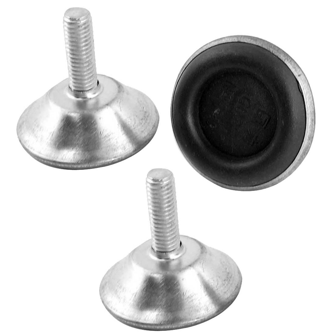 3 Pcs Round Head Threaded Metal Rod Leveling Adjuster Foot 8 x 21 x 40mm