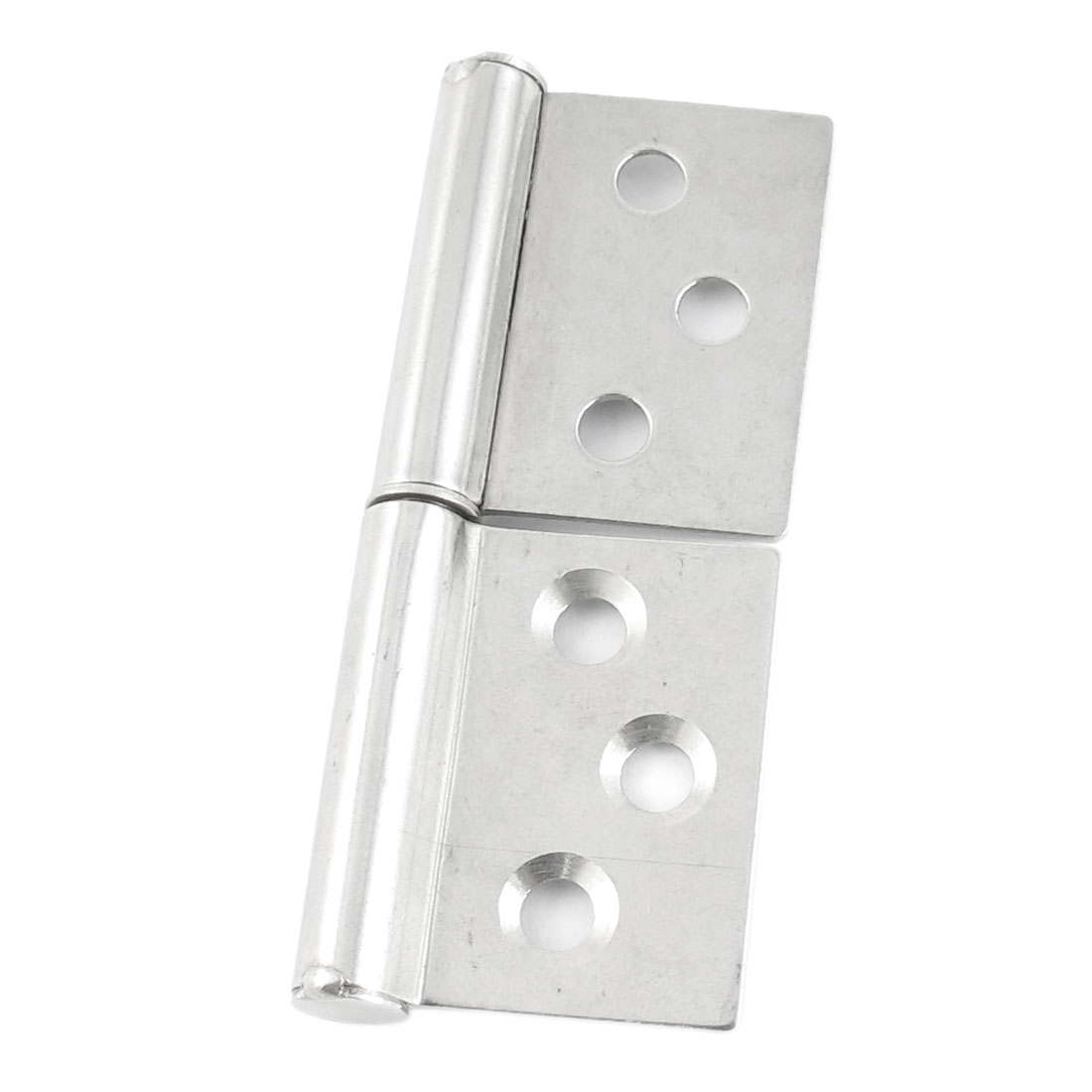 "Silver Tone Hardware 6 Holes Flag Window Cabinet Hinges 2.8"" Long"