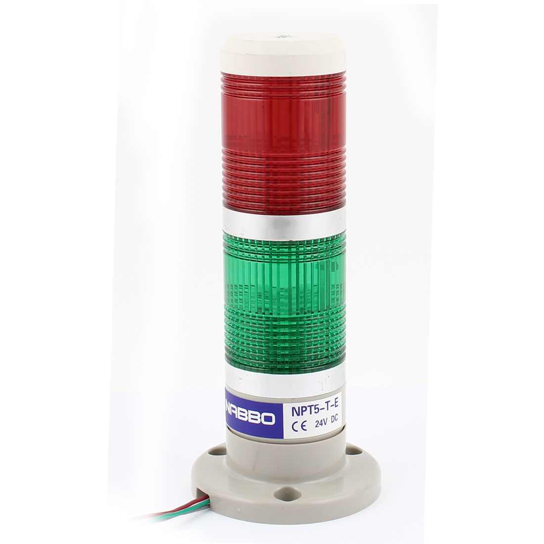 DC 24V Green Red LED Industry Signal Tower Safety Alarm Stack Warning Indicator Light Lamp