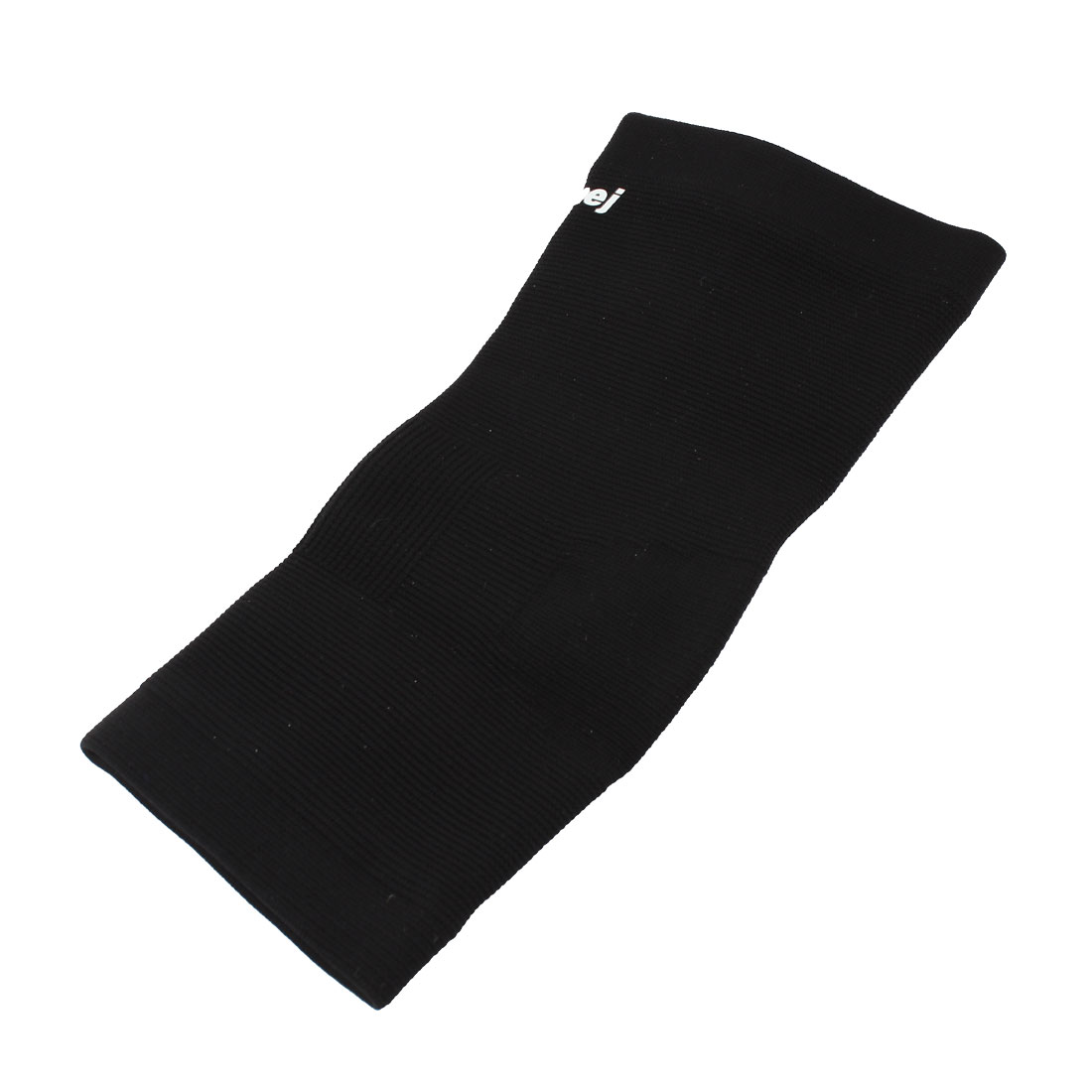 Sports Protection Black Stripe Ribbed Elastic Heel Ankle Support Sleeve Shield L