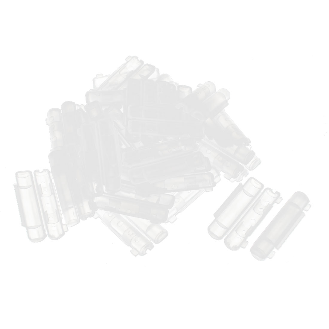 30 Pcs Clear Plastic Insulation PCB Fuse Holder Cover 30 x 10mm