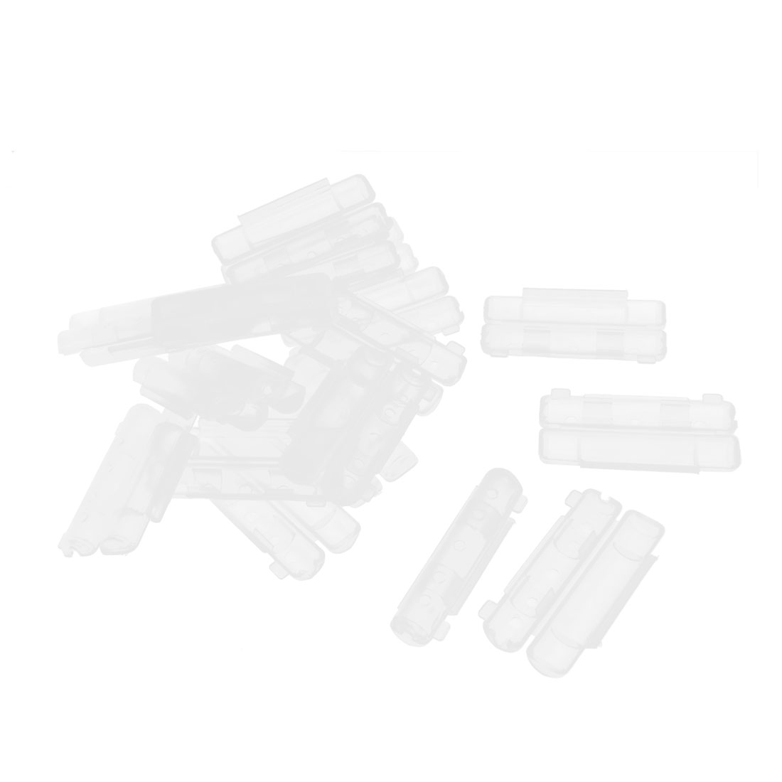 20 Pcs Clear Plastic Panel Mount PCB Fuse Holder Case Cover 55 x 20mm