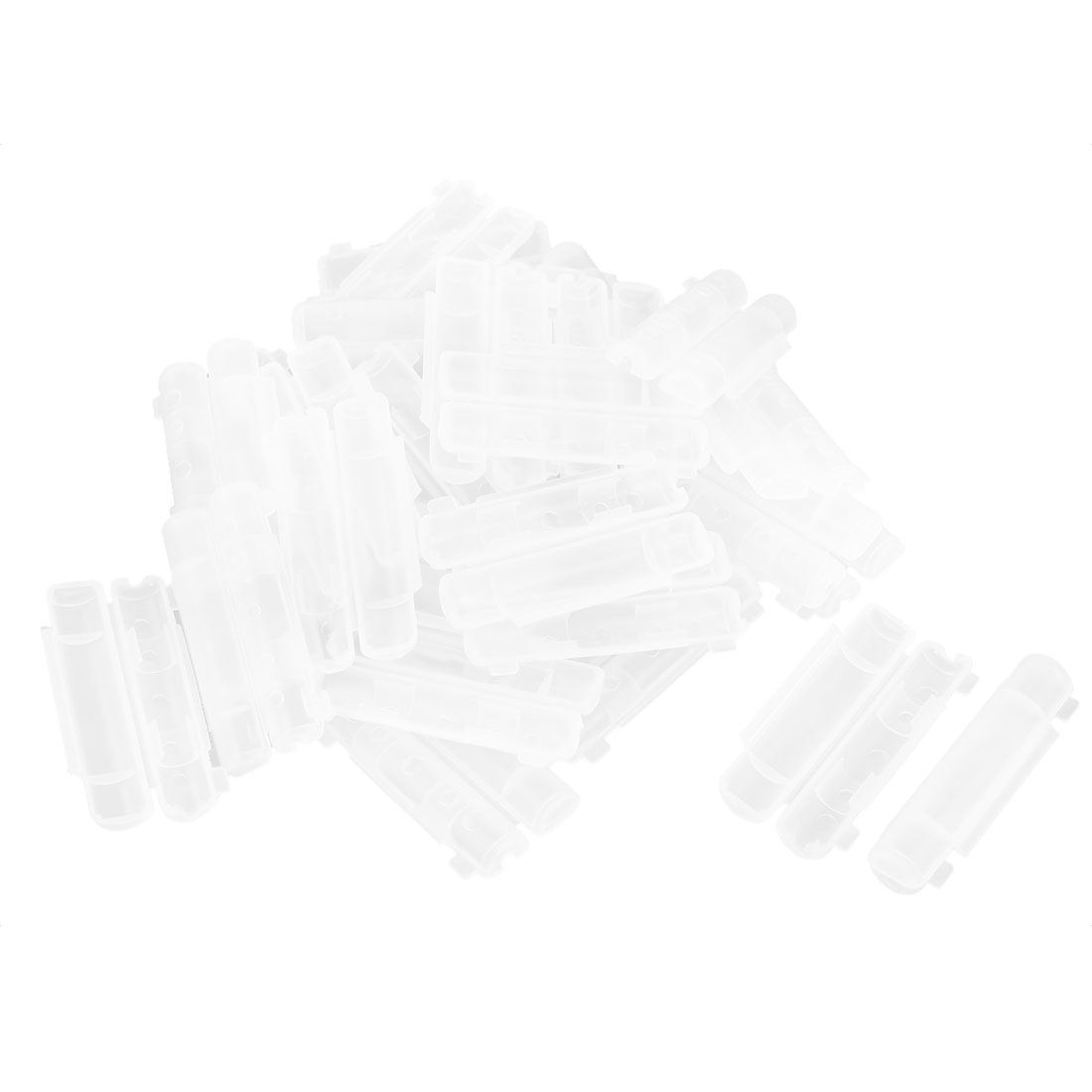 50 Pcs Clear Plastic PCB Fuse Holder With Cover PCB/Panel Mount 55 x 30mm